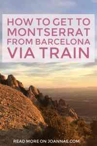 How to Get to Montserrat from Barcelona via Train