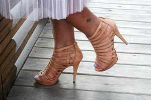 Tulle Skirt with Platform Sandals