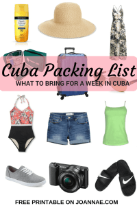 Cuba Packing List What to Bring for a Week in Cuba