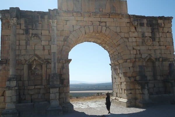 Moroccan door - Roman city of Volubilis