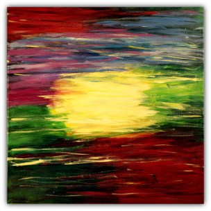 PAINTING ON CANVAS, ACRILIC, SIZE 50X50 CM (19,68x19,68 INCH), CATALOGUE NO. 31, STATUS: AVAILABLE