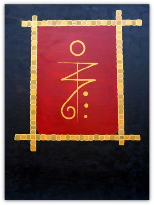 SIGIL VICTORY, 2018, PAINTING ON CANVAS, ACRILIC, SIZE 60X80 CM (23,63x31,50 INCH), CATALOGUE NO. 78, STATUS: AVAILABLE, Sigil to bring victory in all that you do.