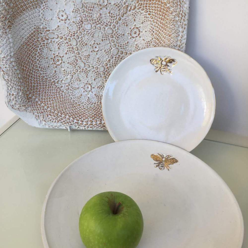 Putney School Of Art and Design ceramics handmade goldenbees bees