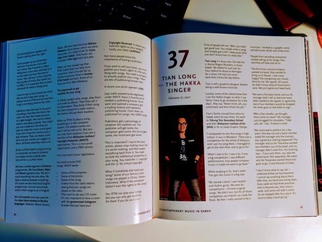 """Chapter 37 """"Tian Long - The Hakka Singer"""" in SabahSongs: Contemporary Music in Sabah"""