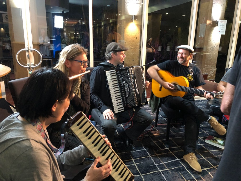 Arts Ablaze Fusion Artists in Residence jam session
