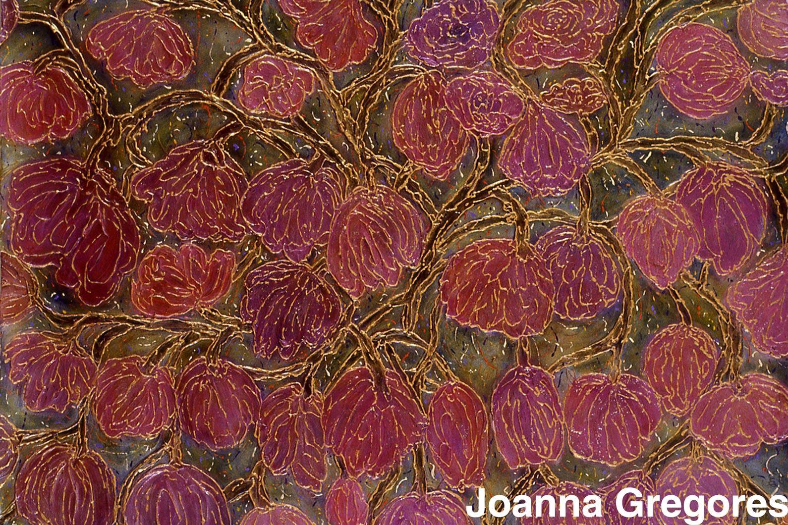 joanna gregores winter garden acrylic polymer and mica