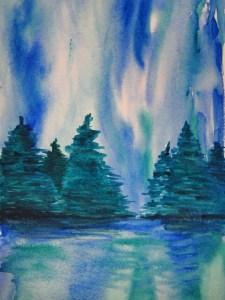 Fun wash 4 - Northern Lights by Jo-Ann Blondin