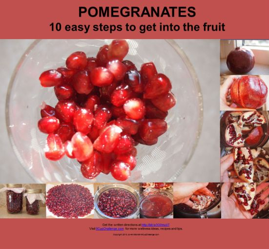 Pomegranates 10 steps to get into the fruit