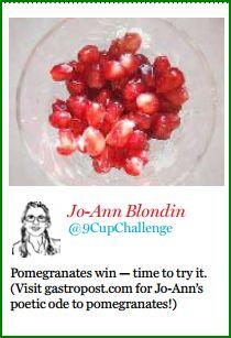 Pomegranates Gastropost Jan 19 National Post. Jo-Ann Blondin