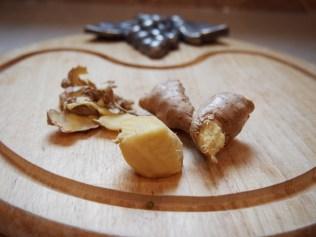 Peel the fresh ginger Image copyright Jo-Ann Blondin 9CupChallenge