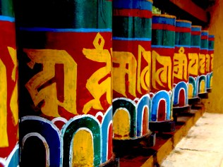 Tibetan Prayer Wheels, India. Image copyright Scott Law, used with permission