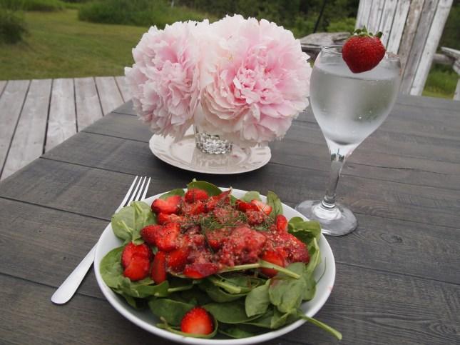 A wonderful Summer lunch. Copyright Jo-Ann Blondin