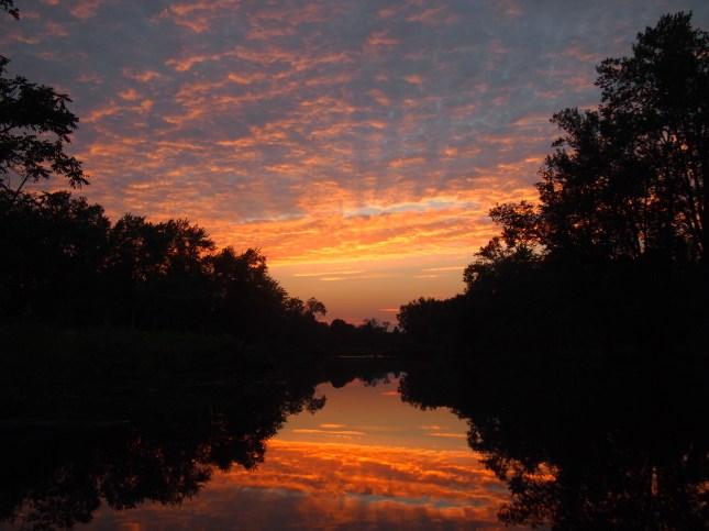 Sunset at Riverbend July 4 2013 Copyright Jo-Ann Blondin