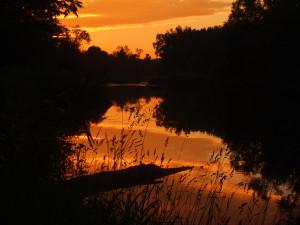 Sunset at Riverbend July 5 2013 Copyright Jo-Ann Blondin