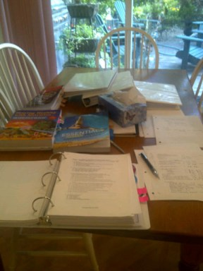Studying while the sun shines. Amazed at how much I learned, Copyright Jo-Ann Blondin