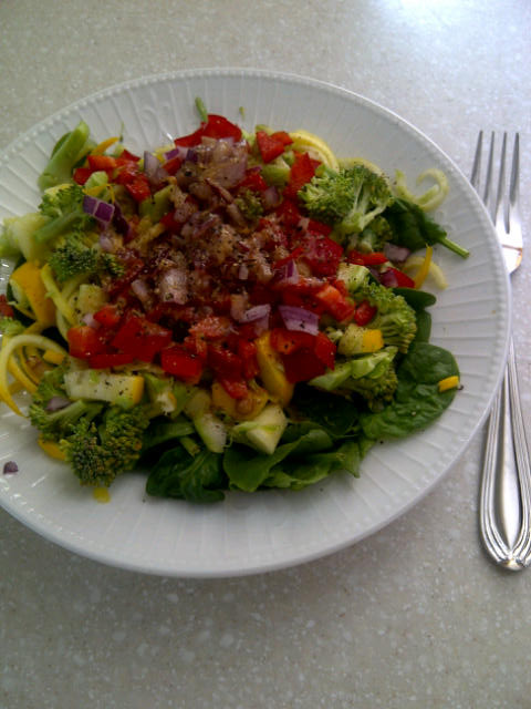 I made sure to serve myself healthy meals. Copyright Jo-Ann Blondin