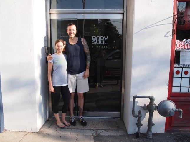 Marni Wasserman and David Good - just before yoga. Copyright Jo-Ann Blondin
