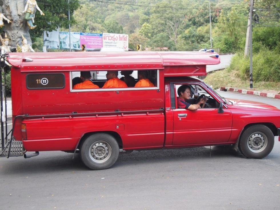 Songthaew travel in Chiang Mai Thailand - Copyright Jo-Ann Blondin