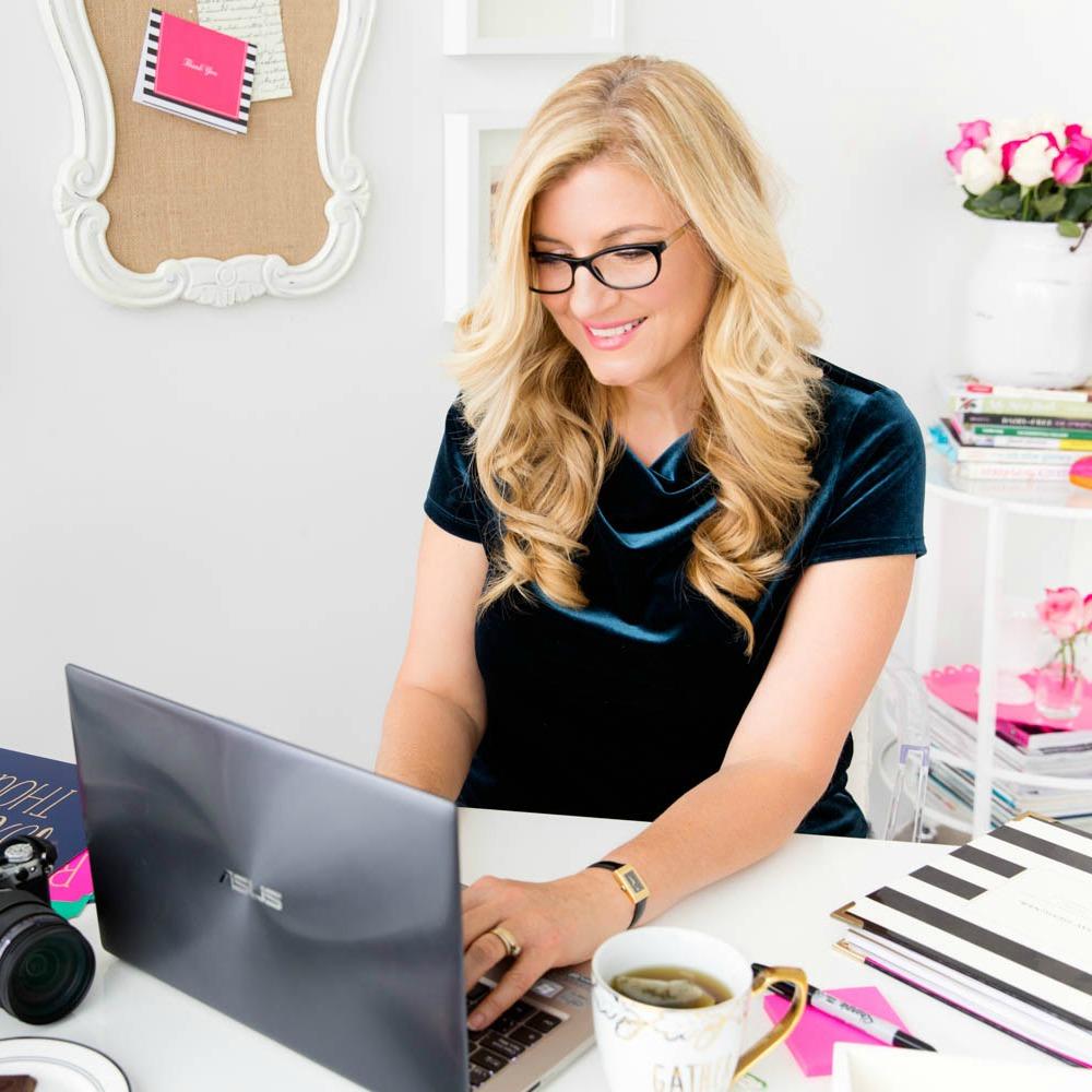 Jo-Ann Blondin At Desk