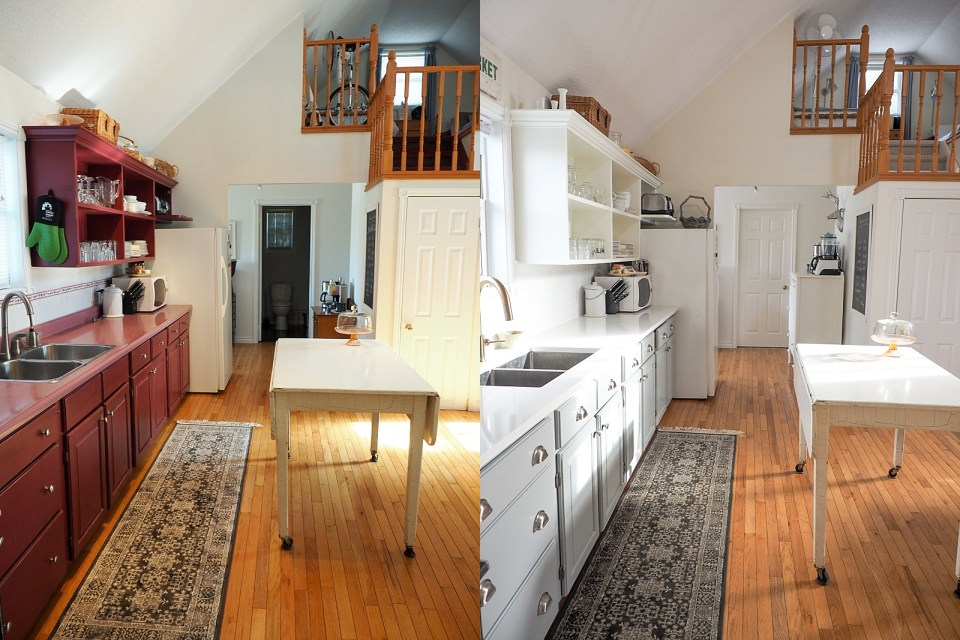 Riverbend kitchen before and after
