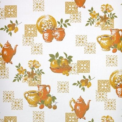 1960s-Kitchen-Vintage-Wallpaper-Orange-Pots-w-Golden