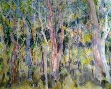 Carmen Beezley-Drake 'Blackdown Landscape' watercolour