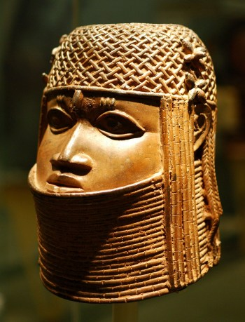 Ancestral head of an oba (a king), part of an exhibition on empire and museum holdings