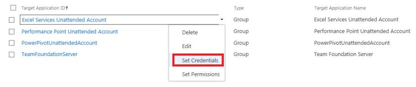SetCredentials