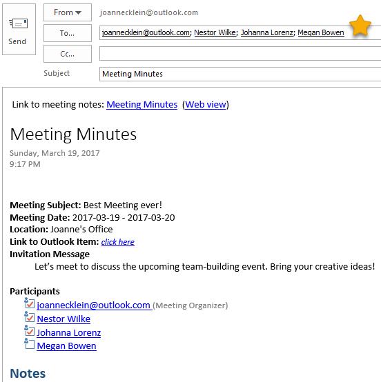 Meeting Minutes | Meeting Minutes Onenote Tip Joanne C Klein