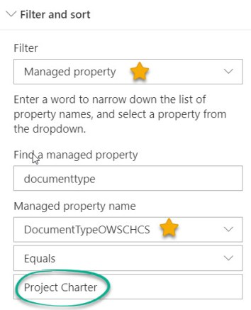 Managed Property Filter