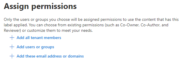 Assign permissions by sensitivity label