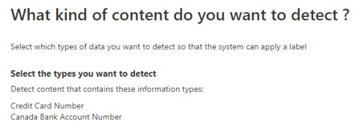 4 - Canada sensitive info types