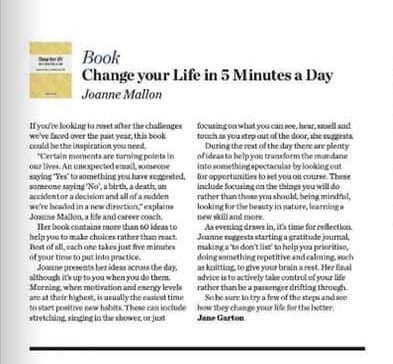Change Your Life in 5 Minutes a Day Waitrose Weekend review
