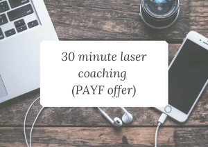 laser coaching pay as you feel offer