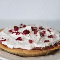 Coconut raspberry chocolate ice cream pie
