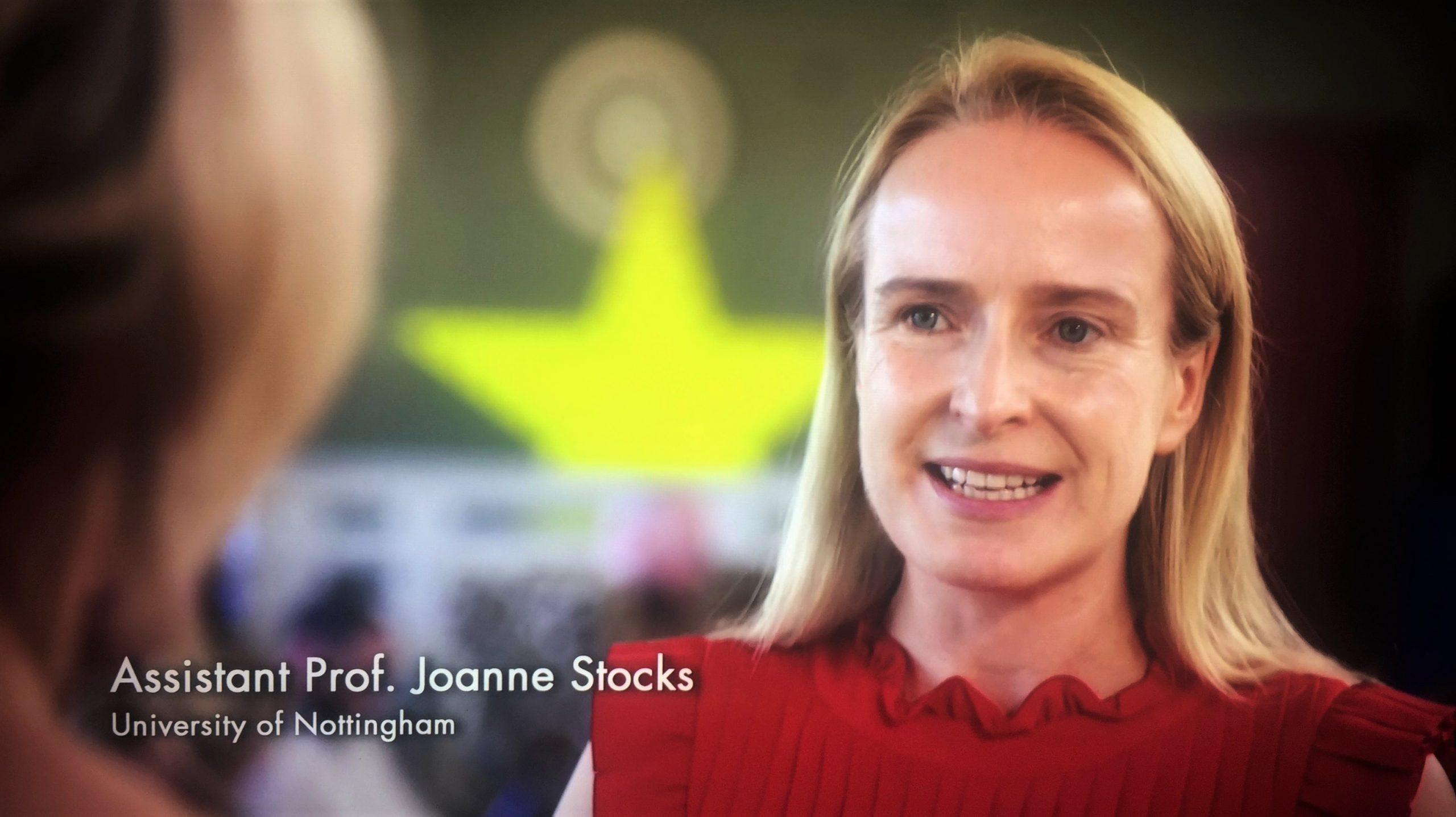 Assistant Professor, Dr Joanne Stocks from University of Nottingham
