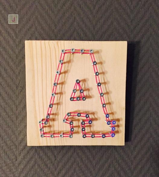 Buchstaben Schrauben-Fadenbild