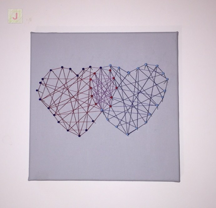 Hearts Fadenbild