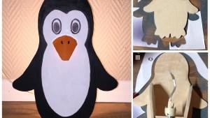Pinguin Lampe aus Holz