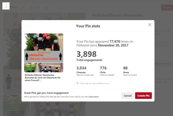 How to boost your pinterest account pinterest pin stats from joanns diy solutioingenieria Gallery