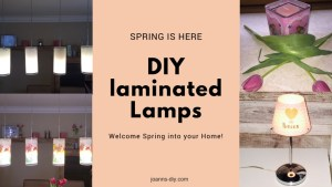 diy laminated lampshades