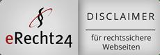 eRecht24.de disclaimer