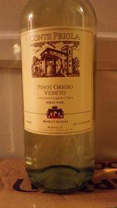 bottle of Conte Priola Pinot Grigio