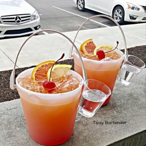 Beachside Punch in small buckets