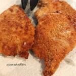 Plated Crispy Pan Fried Pork Chops