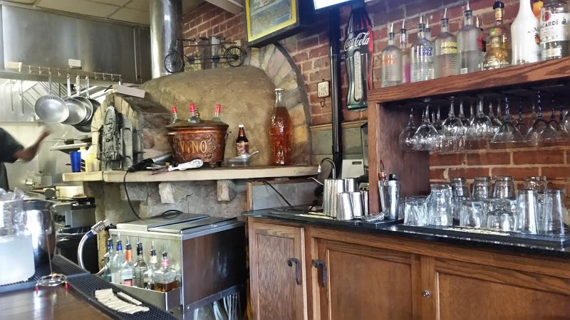 Pizza oven in Whistle Stop Cafe