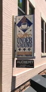 Coffee Underground street sign Greenville