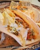 Asian-Mexican Fusion Chicken Tortilla
