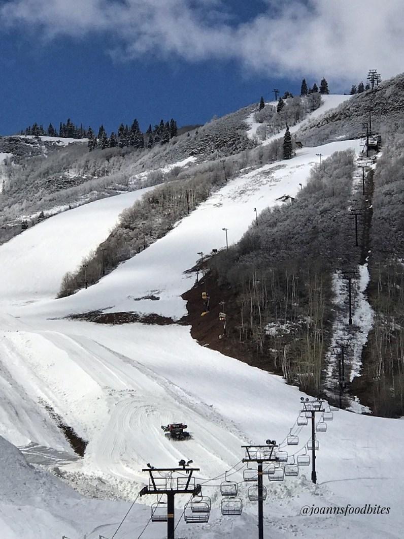 Ski slopes and ski lift at Alta Ski Resort