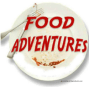white plate with food adventures